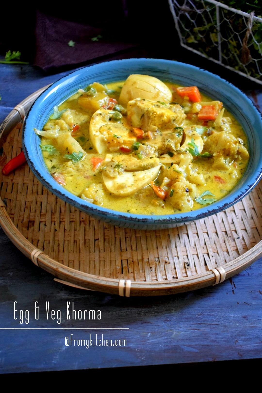 Veg & Egg Korma
