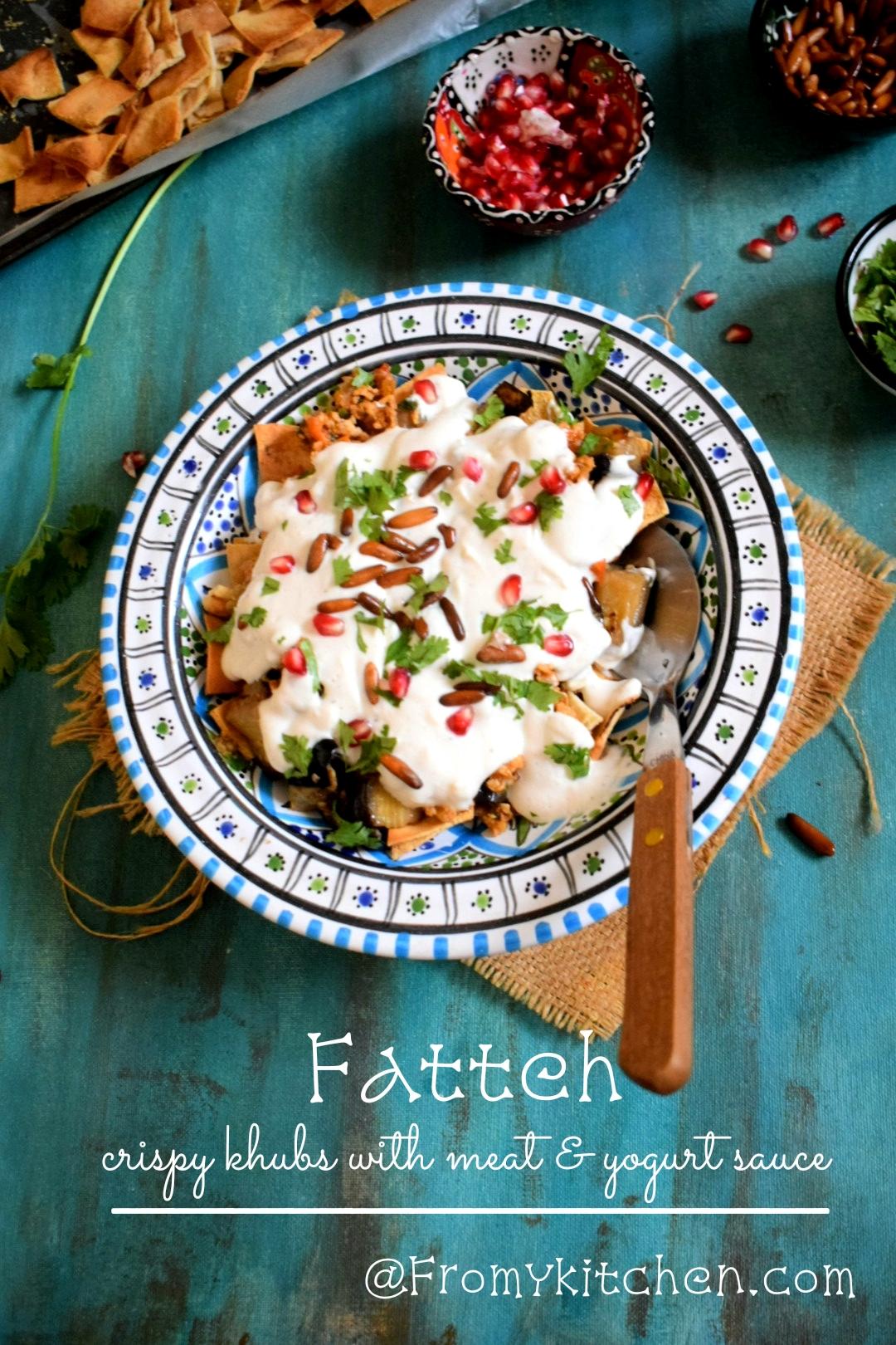 Fatteh (Crispy Pita with minced meat and Yogurt Sauce)