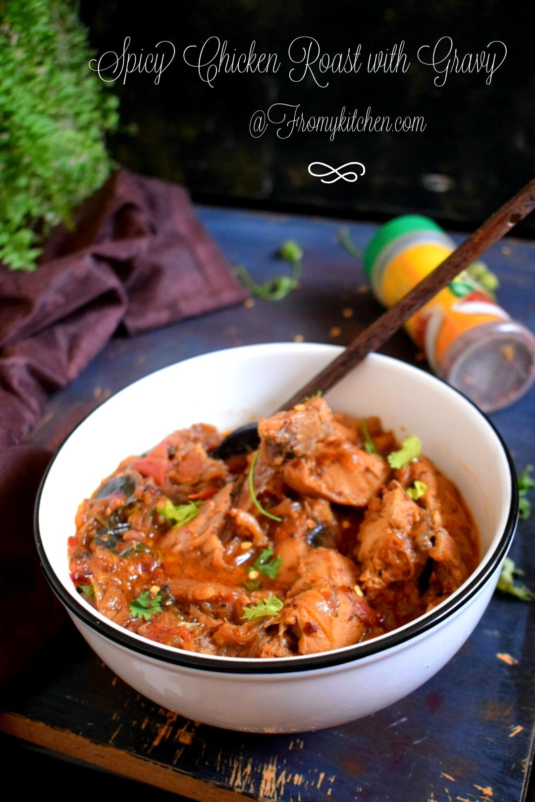 Spicy Chicken Roast with Gravy