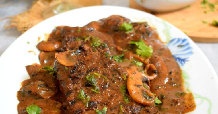 Goan Beef Steak with Mushroom Sauce