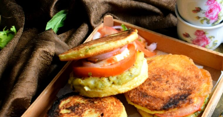 Potato Kebab Sandwich