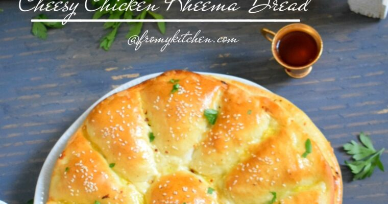 Cheesy Qeema Bread
