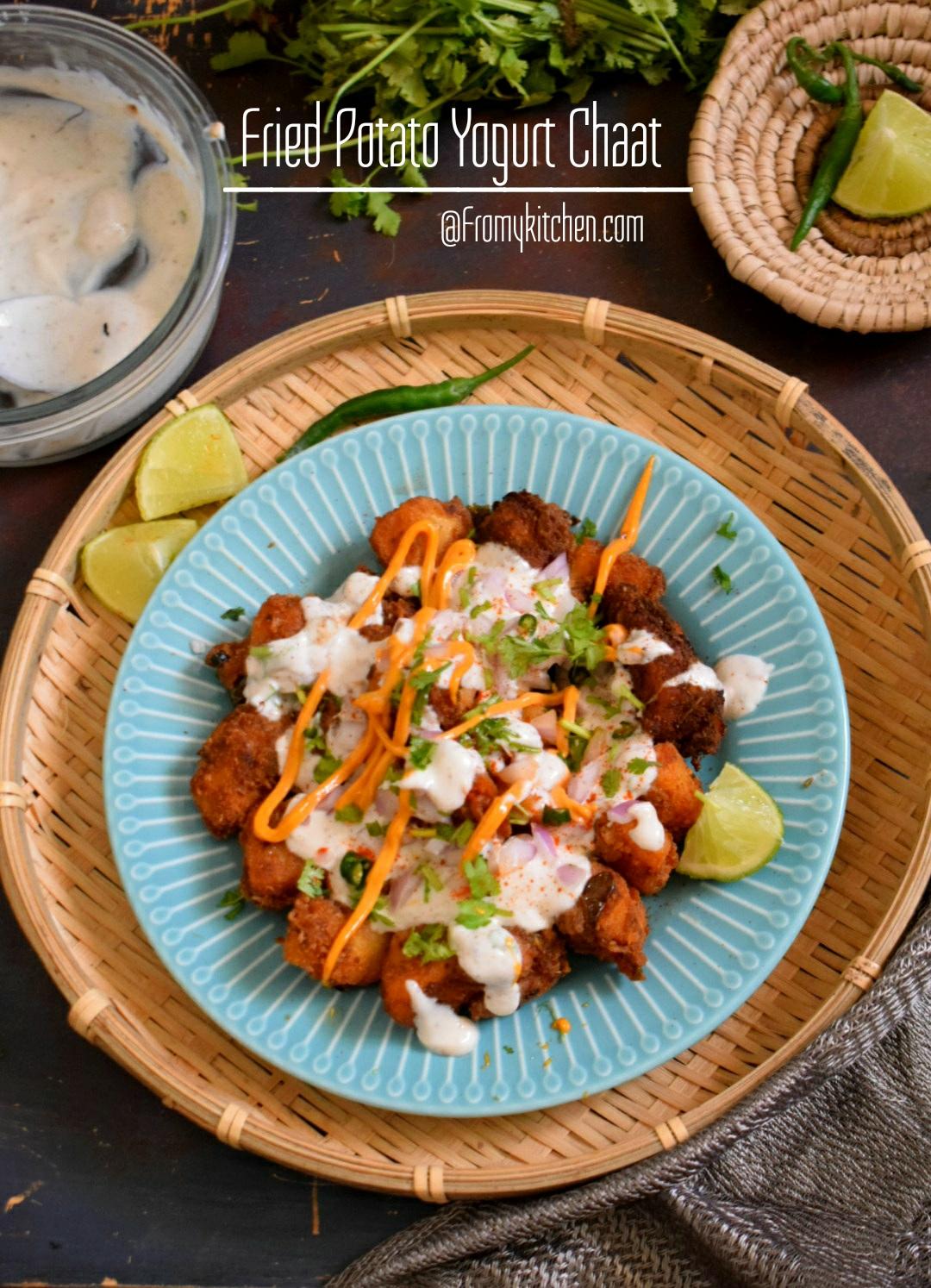 Fried Potato Yogurt Chaat