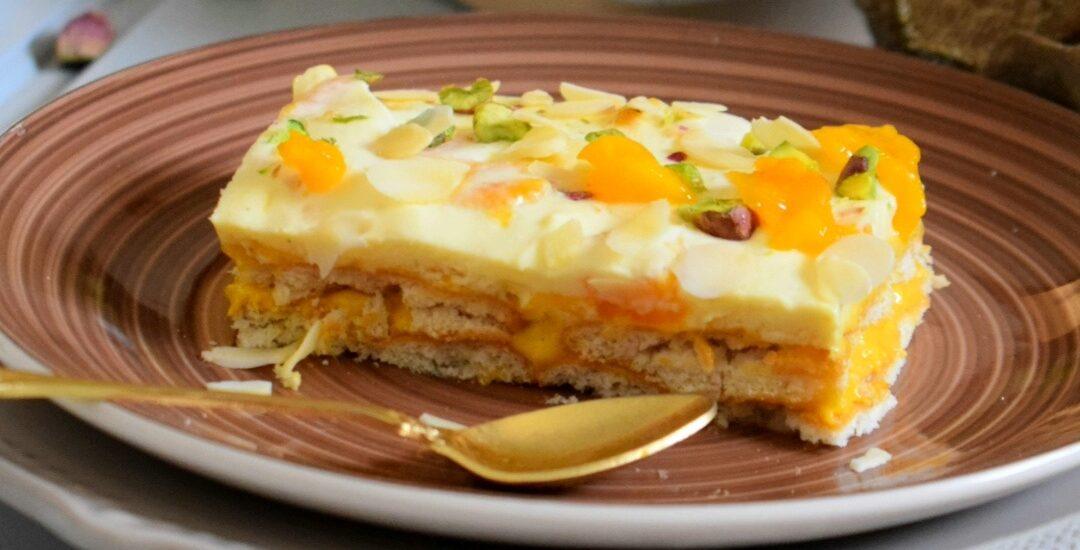 Mango Biscuit pudding